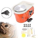 220V Pro 25CM ceramica elettrico ruota macchina per lavori in ceramica argilla Elettrico Pottery Wheel Machine ceramica tornio Macchina con pedale 250W