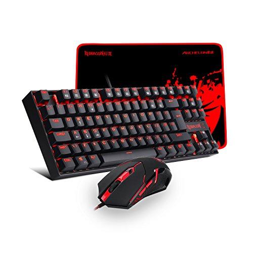Redragon K552-BA-UK Gaming Teclado Y Ratón Plus Mouse