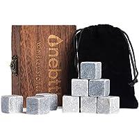 ... de Whisky - Onebttl Whisky Stones para Enfriar su Whisky, Vino y otras Bebidas. Mantiene su bebida fría. Cubos de hielo reusables que no incluyen agua.