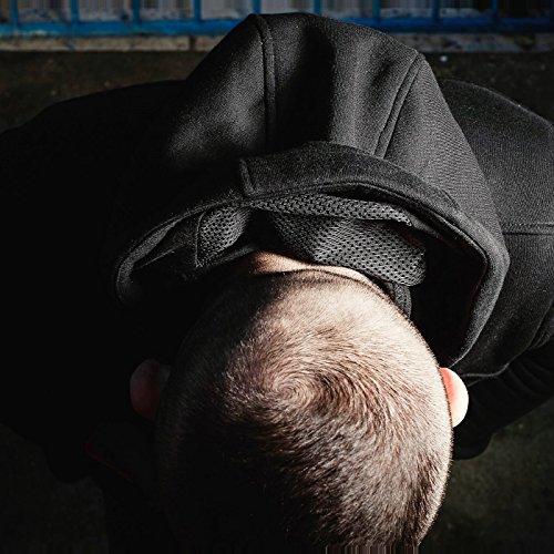 PG Wear Ninja Kapuzenjacke Fanatic mit Sturmhaube schwarz grau S-3XL Schwarz