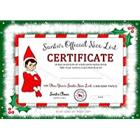 Accessory For Elf On The Shelf, Santa's Nice List Certificate, Personalised Christmas Gift