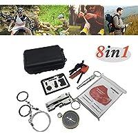 Erste-hilfe-set wandern, 8 in 1 Mehrzweck Notfall-Erste-Hilfe-Kit Outdoor Selbsthilfe-Box SOS Ausrüstung für Camping... preisvergleich bei billige-tabletten.eu