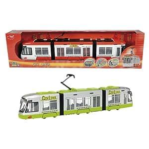 DICKIE TOYS Le tram City Liner voiture de jeu, multicolore