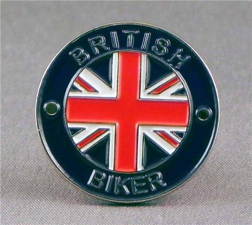 British Biker Motorcycle Motorbike Metal Enamel Badge -
