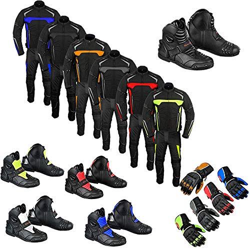 Profirst Global Tuta moto stivali stivali guanti 2 pezzi tuta Rider Bike tuta impermeabile giacca con pantaloni guanti verde 5XL