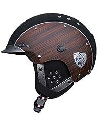 Skihelm Casco SP-3 Limited Edition Edelholz Casco Snow, schwarz, Größe M (54 bis 58 cm Kopfumfang)