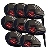 Japan WaZaki Black Oil Finish WL-IIs 4-SW Mx Steel Hybrid Irons Golf Club Set + Headcover(pack of 16)
