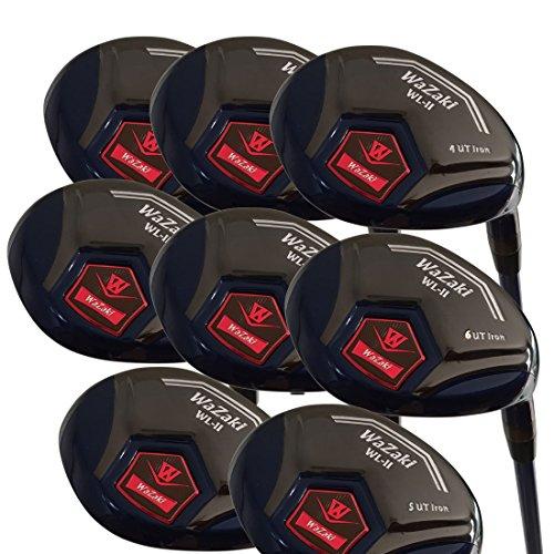 japan-wazaki-black-oil-finish-wl-iis-4-sw-mx-steel-hybrid-irons-golf-club-set-headcoverpack-of-16