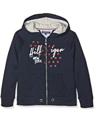 Tommy Hilfiger Girls Hd Zipthru Hwk L/s, Sweat-Shirt à Capuche Fille