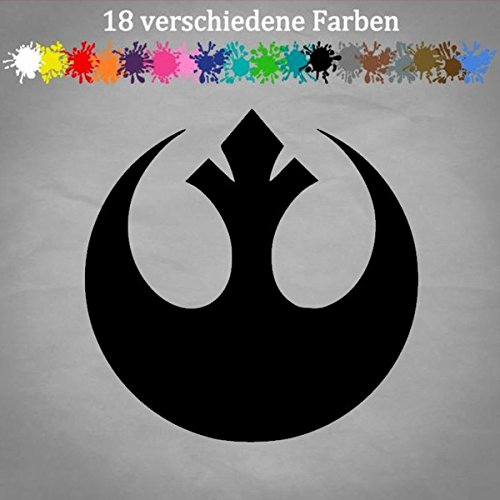 Generic Rebellion 12x12cm Star Wars Aufkleber Logo Allianz Darth Vader Sticker JDM Golf in 18 Farben