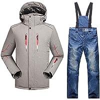 Pantalones de la Chaqueta de esquí de los Hombres Impermeables cálidos espesos