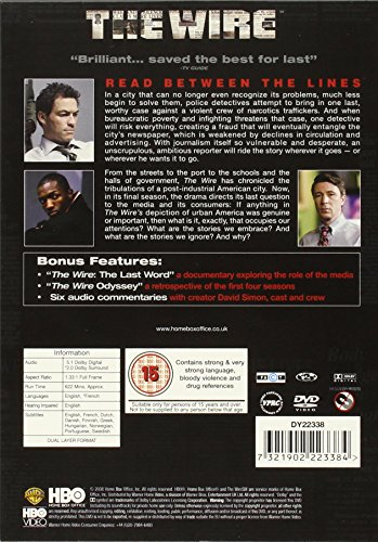 The Wire  Complete HBO Season 5  DVD