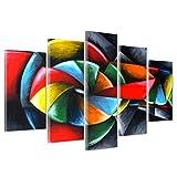 Bild auf Leinwand Canvas–Gerahmt–fertig zum Aufhängen–Gitarre Musik–Kubismus–Picasso Style 170x86cm