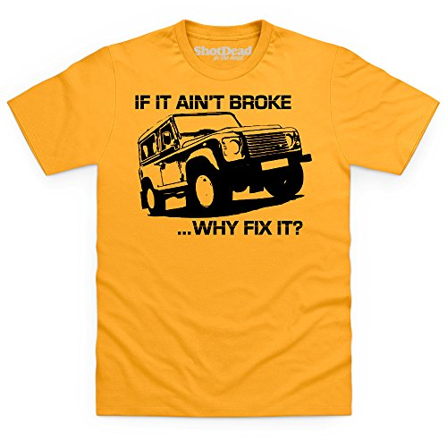 LRO Why Fix It T-Shirt, Herren Gelb