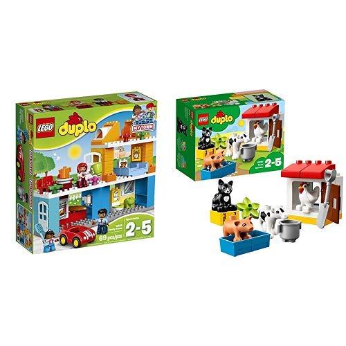 LEGO Duplo 10835 - Familienhaus, Spielzeug für drei Jährige &  Duplo 10870 - Tiere auf dem Bauernhof, Lernspielzeug