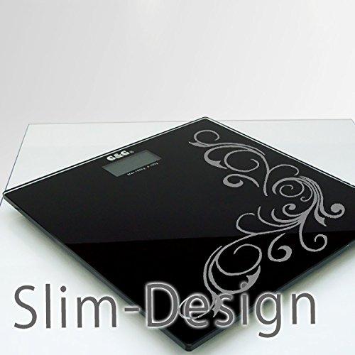 G&G A5-BF 180kg AAA Batterien DESIGN Personenwaage Digitalwaage GLAS Scale