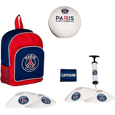 Kit d'entrainement enfant PSG - sac � dos + ballon + pompe + plots + brassard de capitaine - Collection officielle Paris Saint Germain - Football Sup