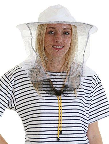 apicoltura bianco rosa cotone cappello e veli toggle