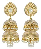Royal Bling Gold Plated Base Metal Jhumka/Jhumki Earrings For Women