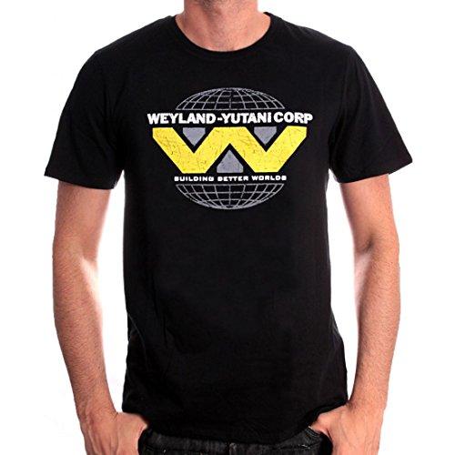 Alien-Maglietta da uomo con logo Yutani Wayland Nero