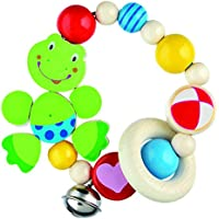 Heimess Wooden Elasticated Touch Ring Rattle (Frog)