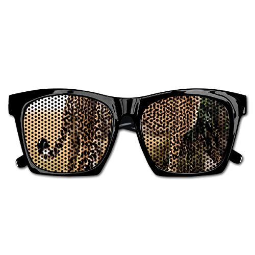 Mesh Sunglasses Sports Polarized, Cheetahs Mother and Two Young Baby Looking for Food Dangerous Exotic Animals,Fun Props Party Favors Gift Unisex