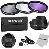 Neewer filtro de 55 mm de la lente Kit de accesorios para Canon Nikon Sony Samsung Fujifilm Pentax: UV / CPL / FLD Filtro, la bolsa, la capilla de lente, tapa del objetivo, paño de limpieza