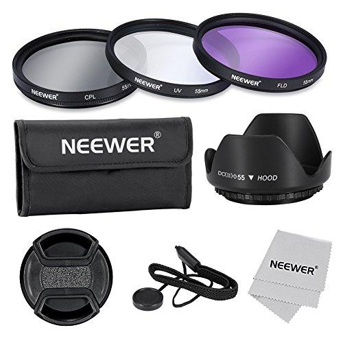 Neewer® 55mm Lenti Filtro Kit di Accessori Professionali per Canon Nikon Sony Samsung Fujifilm Pentax e altri obiettivi DSLR fotocamera con filettatura
