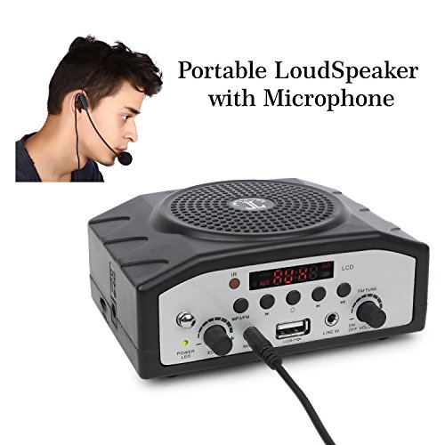Tronica Bluetooth Rechargeable Multimedia Digital Display Speaker with Karaoke Mic MP3, FM, SD Card, USB and Aux Cable Support