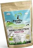 TheHealthyTree Company Proteína de Suero Orgánico en Polvo de 600g (sin sabor) - Alta contenido de aminoácidos y BCAAs - 80% de whey proteína orgánica pura de vacas alimentadas con pasto