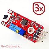 AZDelivery ⭐⭐⭐⭐⭐ Juego de 3 Ky de 024 Linear Magnetic Hall Sensor para Arduino