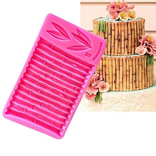 Chinesische Bambus-Blätter-Muster, Bambus-Stanzform, chinesischer Stil, Wald, Bambus-Rie, DIY Fondant-Werkzeug, Kuchen, Silikonform