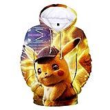 Sweat à Capuche 3D Anime Pour PokéMon Detective Pikachu Character Print Casual Top à Capuche En Vrac,1 style,Xxs