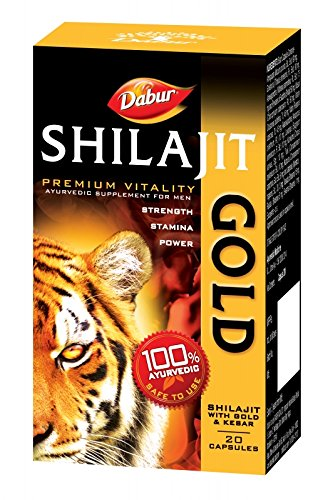 Dabur Shilajit Gold - 20 caps - for strength, stamina & power