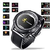 LMtt Intelligentes Armband, Smart Bracelet, Sport Bluetooth Herzfrequenz Blutdruck Sauerstoff Professional Schwimmen für mi3 Smartphone Smart Watch,Black