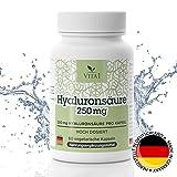 Capsule di acido ialuronico Ringiovanimento della pelle antirughe - Alta dose 250mg • 60 capsule (2 mesi di fornitura) • Vegano • 100% Naturale Made in Germany