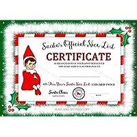 Accessory For Elf On The Shelf, Santa's Nice List Certificate, Christmas Gift