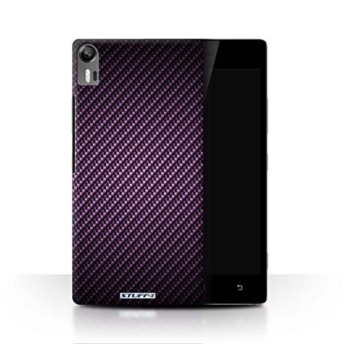 Stuff4® Hülle/Hülle für Lenovo Vibe Shot/Z90 / Lila Muster/Kohlenstoff-Faser-Muster Kollektion