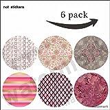 Soporte multifunción para Smartphone Gift-R189-rosa y dorado mármol, rayas, rosa Dahlia flamenco...