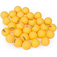 Pelota de tenis de mesa pelotas de ping pong bolas 30piezas 40mm 3estrellas práctica formación pelota de para taladro Play, amarillo