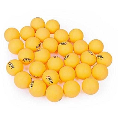 Tischtennis Ball Ping Pong Bälle 30Stück 40mm 3-Sterne-Bälle Praxis Training Ball für Bohrmaschine Play, gelb
