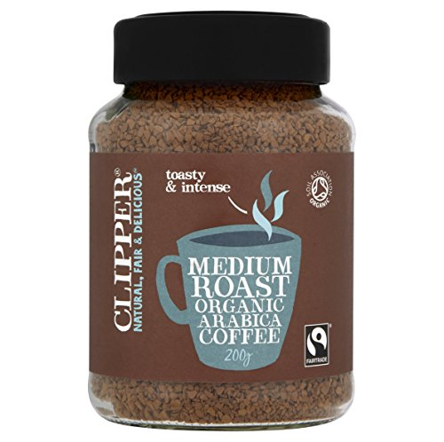 Clipper Medium Roast Organic Arabica Coffee, 200 g 51hK03LLKJL
