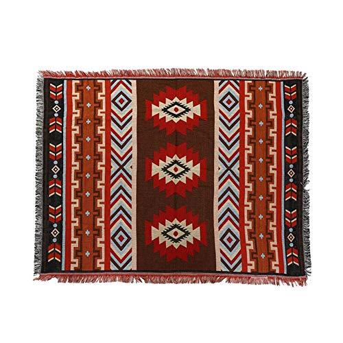 YSCCSY Coton Aztèque Navajo Couverture Couverture Tapis Cobertor Tissé Géométrique Serviette Tapis Tapis Suspendu Tapisserie Décoration De La Maison Textiles