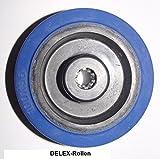 Rad Rolle 100mm Bluewheels Erstazrad Transportrolle Transportrad