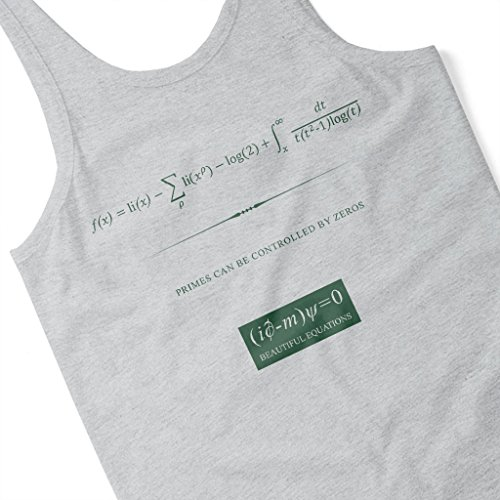 Beautiful Equations Primes Can Be Controlled By Zeros Green Text Women's Vest Heather Grey