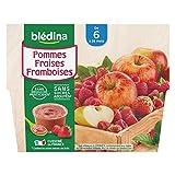 Blédina 4 Coupelles Pommes Fraises Framboises dès 6 mois