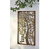 XXL Wandbild Paradiso Wanddeko Innen Außen Metall Wand Deko Antik Optik 70cm NEU
