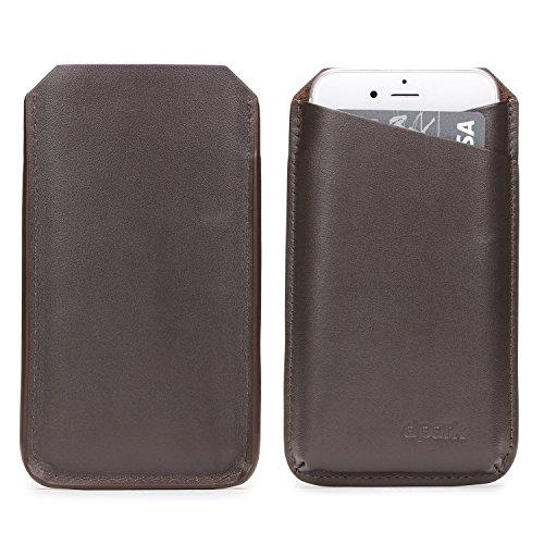 Urcover® UNIVERSAL 6 Zoll Schutz-Hülle Pulltab Hülle Schale Pull Tab Etui Cover Case Handy Zubehör Tasche Dunkel Braun