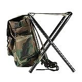 Beautyrain 1 PCS Chaise de sac à dos de pêche Outdoor Portable Mont Montagne Pliant Multi Fonctionnel Voyage Randonnée Camping Cadeau
