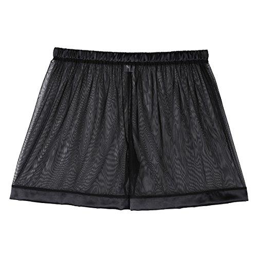 Freebily Lingerie de Nuit Homme Boxer Shorts sous-vêtement Transparent Mesh Lâche Elastique...